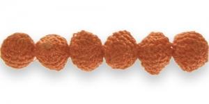 CB12 14mm Oranž heegeldatud kattega helmes