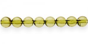 AP17 8mm Oliiviroheline läbipaistev akrüülhelmes