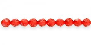 AG56 6mm Punane läbipaistev akrüülhelmes