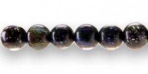 DICHROIC 10mm Ümar must erivärviliste osakestega