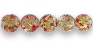 AC1 16x12mm Helekollane punaste detailidega läbipa