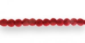 CC12 6mm Punane Sametkattega helmes