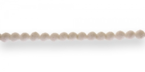 CC5 4mm Valge Sametkattega helmes