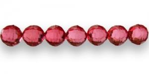 AD8 10mm Punane läbipaistev tahuline akrüülhelmes