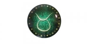 25mm Rohelisekirju dekoraatiivkivi, Sõnn/Taurus, KM156-H