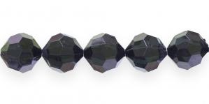 AG142 18mm Mustjas tumeroheline läbipaistev tahuline akrü