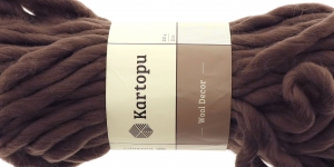 Villane viltimisheie-lõng Wool Decor 200g, 30m, Kartopu, värv K1890, hallikaspruun