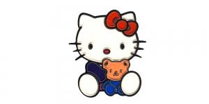 BA61, Hello Kitty mõmmiga, 7,5 x 6,5 cm