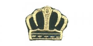 Tumeroheline helebeežiga kuninga kroon, 6 x 5 cm, AT16