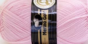 Villasisaldusega lõng Merino Gold, Madame Tricote, värv nr. 39, heleroosa