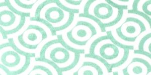Puuvillane elastaaniga trikookangas valge, heleroheline mustriga