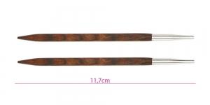 Roosipuust neljakandiliste ringvarraste Cubics vahetusotsikud, Nr.6,5, KnitPro 25406