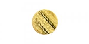 SF147D 10mm Kuldne, reljeefse lainemustriga plastiknööp, kannaga