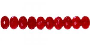 LN767 11x7mm Tumedam punane läbipaistev ümar klaashelmes