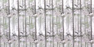150cm Trikookangas Kirju mustriga, valgel taustal 17KC1734