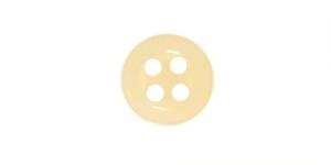 ø9 mm Kreemjasvalge plastiknööp, SL7A222B