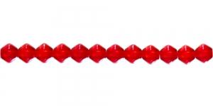 LR85 6mm Punane läbipaistev topeltkoonusekujuline klaashelmes, Jablonex