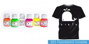 Fluoresseeruv kangavärv Fabric Paint Fluorescent, 50 ml, Vielo, Värv: värvitu, #305 Fluorescent invisible
