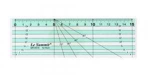Пластикожая (3 мм) линейка 5 см х 15 см, Le Summit QR-0515