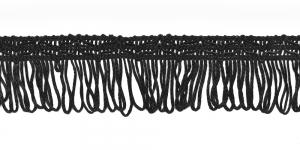 Lihtsad narmad pikkusega 5cm lainelise kaunistusservaga Must