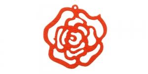 Punane puitdetail, 25 x 2mm, IO168
