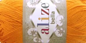 Puuvillane lõng Bella; Värv 83 (Heleoranž) / Alize