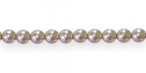 KK309 Ümarad pärlmutter klaaspärlid, Jablonex Tšehhi,6mm Punakasbeež
