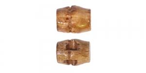 Helepruun puitnööp, 15x12mm, 24L, SB336 222