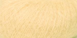 Ülipeen siidisisaldusega mohäärlõng Kidsilk Haze, Rowan, värv 670, kreemjas helekollane