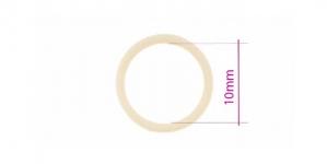 UA3, Plastrõngas nn. rinnahoidja rõngas, ø10mm, naturaalvalge