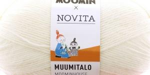 Villasisaldusega sokilõng Muumitalo, Novita, värv 7, Muumitrolli valge