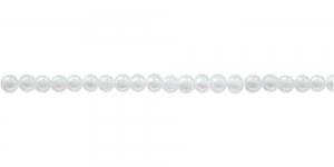 Valge ümar plasthelmes, 3mm, BI11
