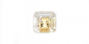 XD10 10mm Värvitu, kuldsega, läbipaistev kandiline akrüülnööp
