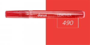 Naha viltpliiats Darwi Leather, 2mm joon, 6ml, VERMILION 490