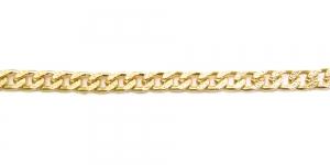 Alumiiniumkett Kuldne 18 x 8 x 2 mm, MA102