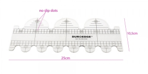 Clear View quilting foot ruler, 10,5 cm × 25 cm, Duroedge KR-2536
