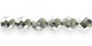 LG69 Ümar tahuline klaaspärl, Tšehhi, 12mm, Hõbedane läbipaistmatu