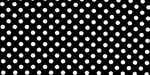 Trikookangas, Valged täpid, mustal taustal, 160cm