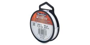 Termiliselt töödeldud tugev niit WildFire ø0,15 mm; 45,8 m, värv: valge, Beadalon 161U-008