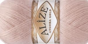 Mohäärisisaldusega lõng Alize Angora Gold, värv 161 õrn heleroosa