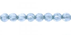 Rohekassinine valge sisuga läbipaistev akrüülhelmes, AA74 7mm