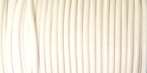 Nahkanyöri, aitoa nahkaa, ø3 mm, väri: valkoinen EG0049