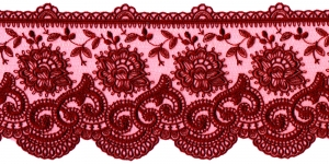 Embroidered Lace P-2616, 9 cm