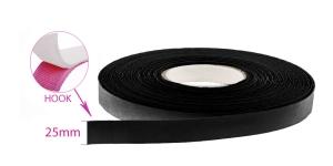 Sew on HOOK tape 25 mm, black