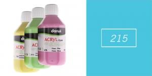 Akrüülvärv, läbipaistmatu, 250ml, Darwi Acryl Opaque, LIGHT BLUE 215