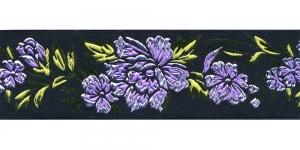 Must, Helelilla lillemustriga pael 48 mm, Art. 50096, V3