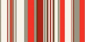 Dekoratiivkangas prinditud triibumustriga, Thevenon, Art.626272, Manon Coral