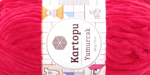 Sametlõng Yumurcak, Kartopu, värv YMD0019, neoonikas roosakaspunane
