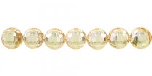 10mm Kuldkollane läbipaistev tahuline akrüülhelmes, AD16