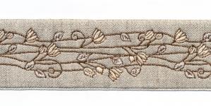 Pool-linane lillemustriga pael Art.815PG laiusega 50mm beezide õitega, Värv 6